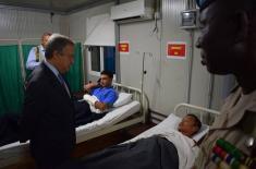 Генерални секретар УН посетио српску војну болницу у Бангију